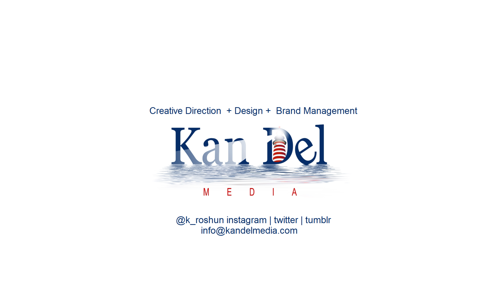 KanDel Media -creative direction, design, digital brand management